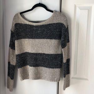 LOFT Wool/Alpaca blend holiday sequin sweater S